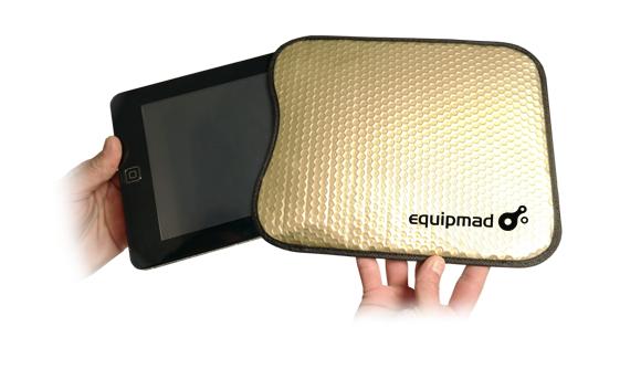Bolsa Tablet Burbuja de Aire Color Oro,