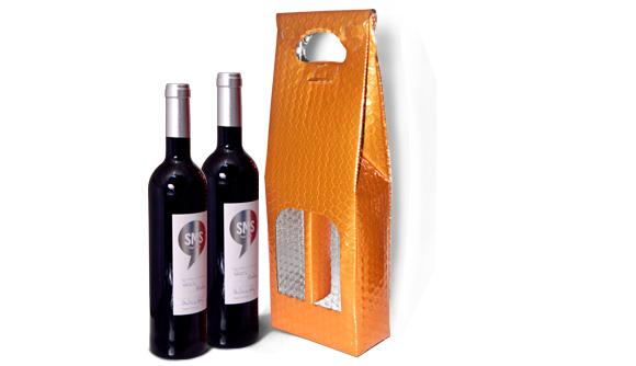 Bolsa Metalizada para Dos Botellas de Vino