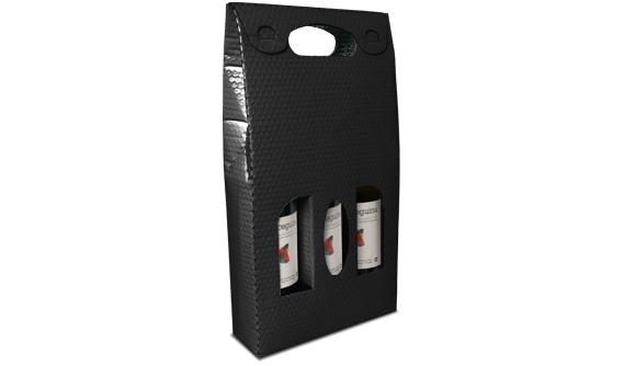bolsa metalizada para tres botellas de vino 2